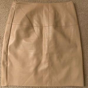 Leather looking mini skirt